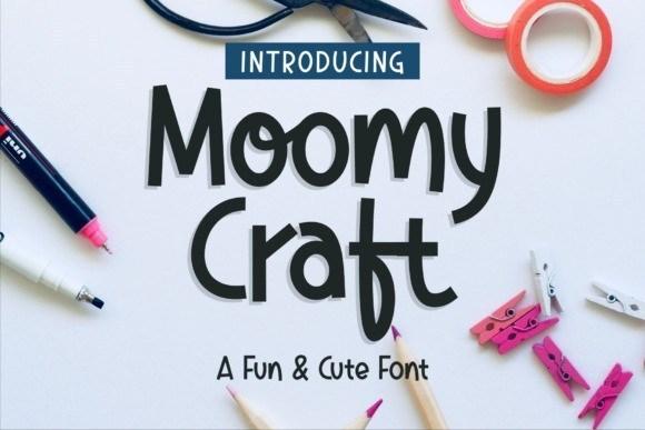 Moomy Craft Display Font