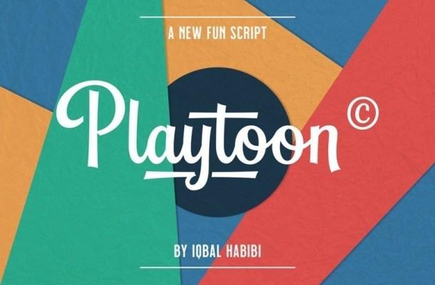Playtoon Script Font