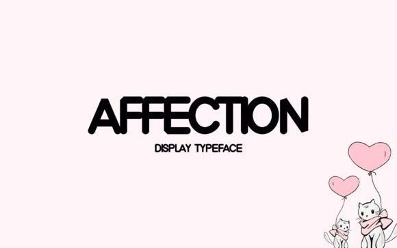 Affection Display Font