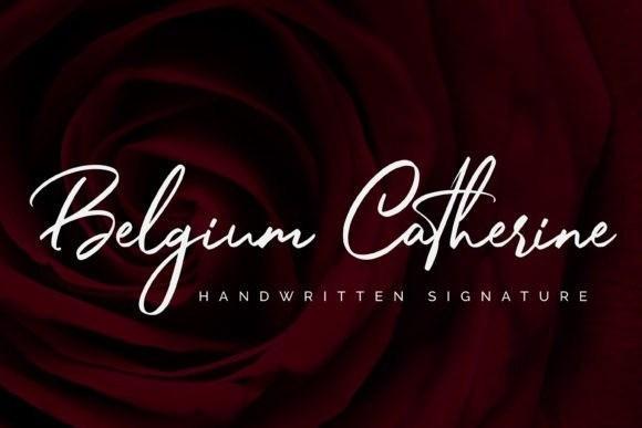 Belgium Catherine Signature Font