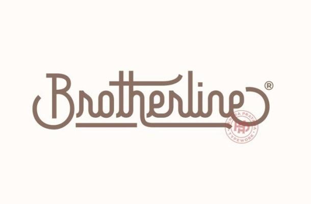 Brotherline Monoline Font