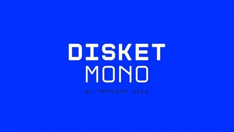 disket-mono-free-font