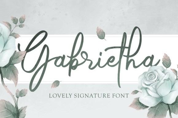 Gabrietha Signature Font