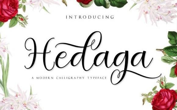 Hedaga Calligraphy Font