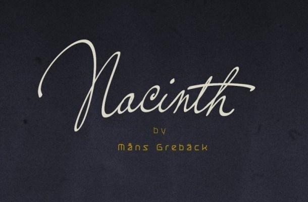 Nacinth Calligraphy Script Font