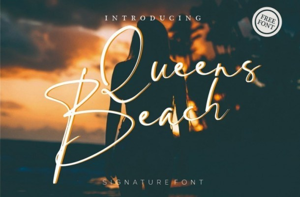 Queens Beach Signature Font