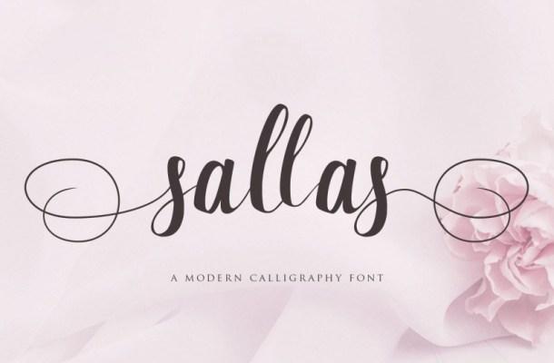Sallas Modern Calligraphy Font