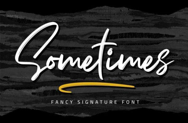 Sometimes Fancy Signature Font
