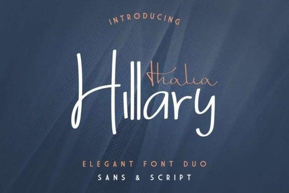 Thalia Hillary Font Duo