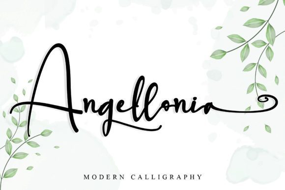 Angellonia Calligraphy Font