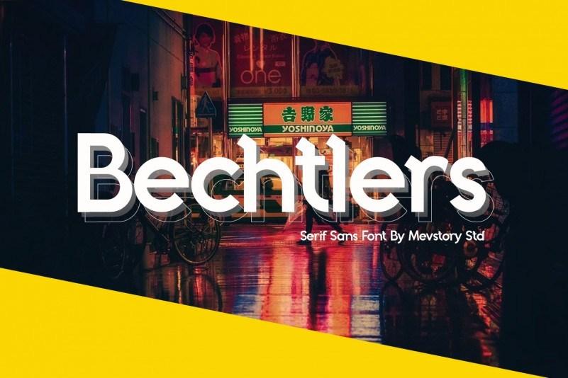 Bechtlers-Display-Font