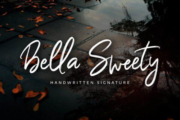 Bella Sweety Pen Brush Font