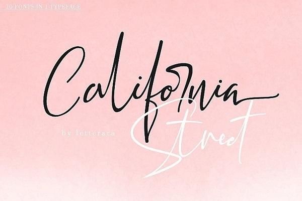 California Handwritten Font