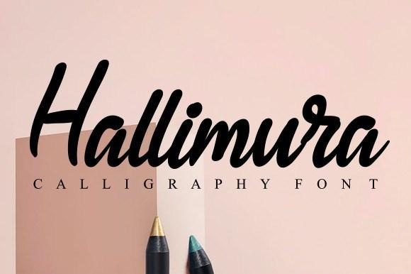 Hallimura-Script-Font-1