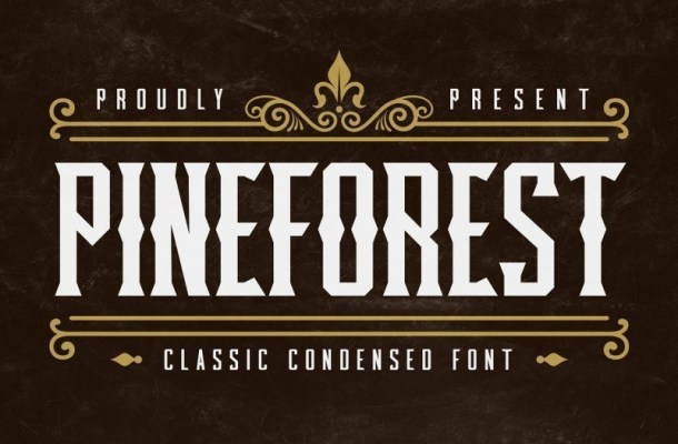 Pineforest Classic Display Font