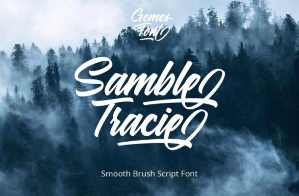 Samble Trice Brush Font