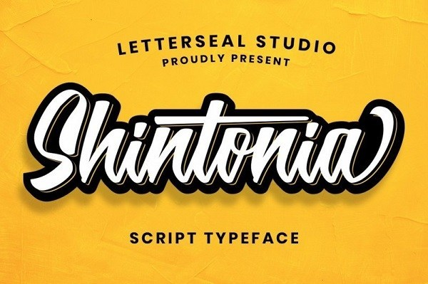 Shintonia Bold Script Font