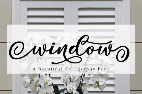 Window Modern Calligraphy Font