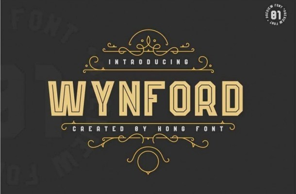 Wynford Display Font