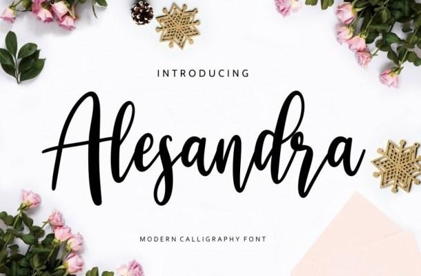 Alesandra Modern Calligraphy Font