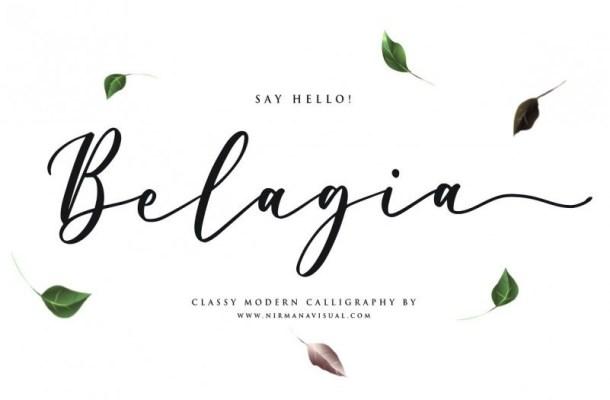 Belagia Classy Calligraphy Font