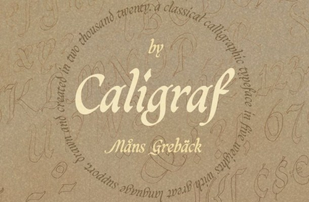 Caligraf Classical Calligraphy Script Font