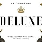 Deluxe Luxury Serif Font Family