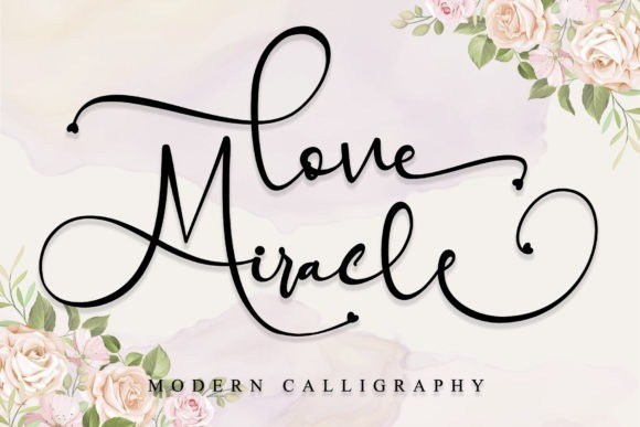 Love Miracle Calligraphy Font