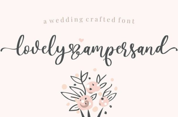 Lovely Ampersand Calligraphy Font
