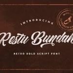 Restu Bundah Retro Script Font