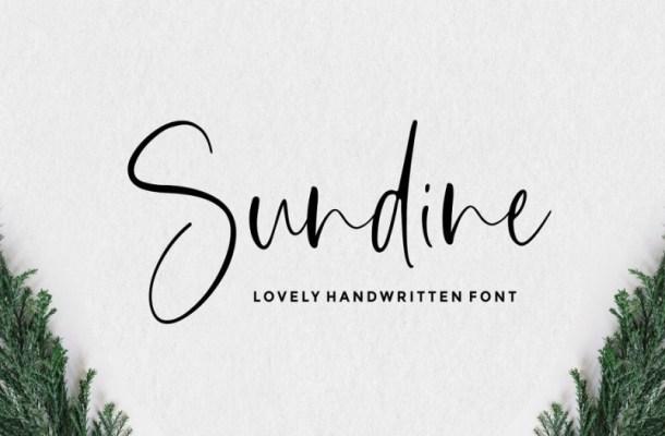 Sundine Lovely Handwritten Font