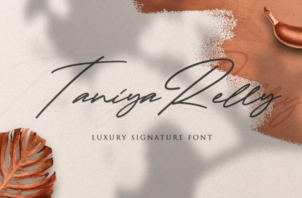 Taniya Relly Luxury Signature Font