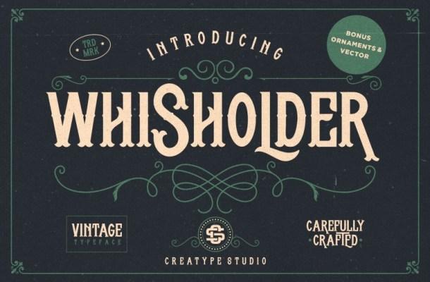 Whisholder Vintage Retro Font