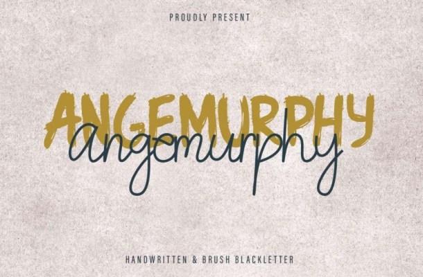 Angemurphy Script Font Duo