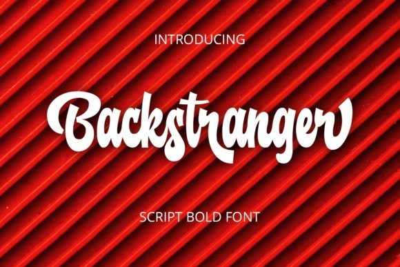 Backstranger Bold Script Font