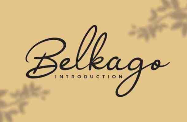 Belkago Handwritten Font