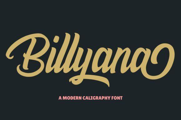 Billyana Bold Script Font
