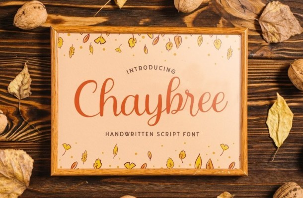 Chaybree Calligraphy Script Font