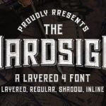 Hardsign Display Font