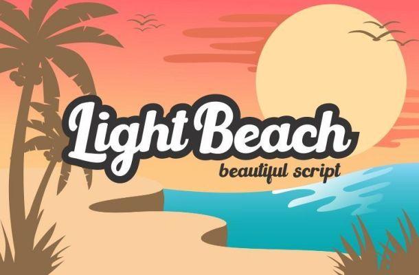 Light Beach Bold Script Font