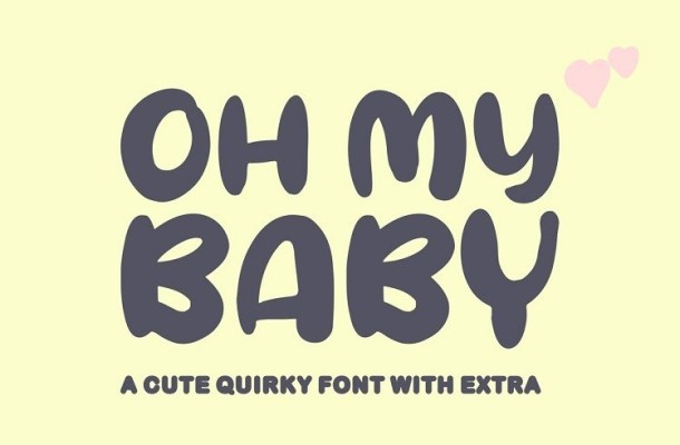 Oh My Baby Cartoon Font