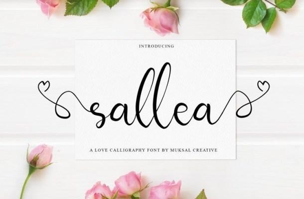Sellea Calligraphy Font