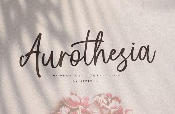 Aurothesia Handwritten Font
