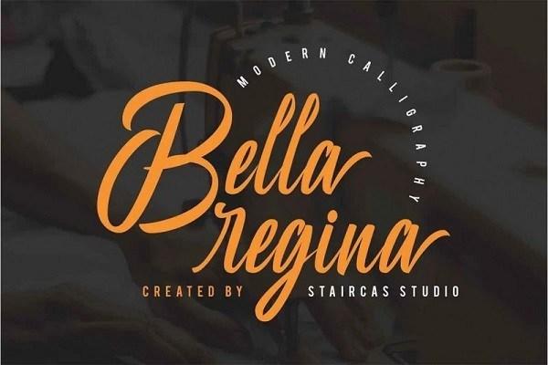 Bella Regina Calligraphy Font