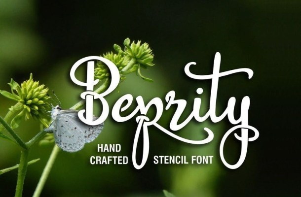 Beprity Stencil Calligraphy Font