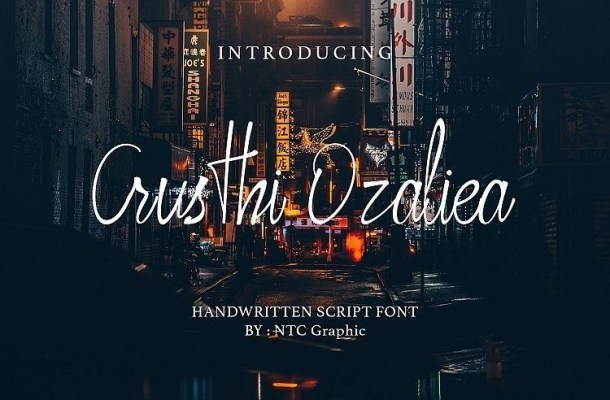 Crusthi Ozaliea Handwritten Font