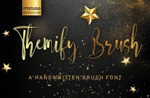 Themify Brush Script Font