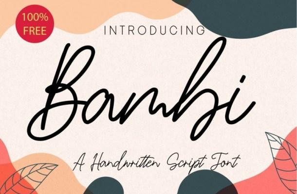 Bambi Handwritten Script Font