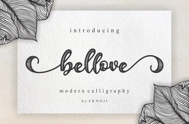 Bellove Modern Calligraphy Font