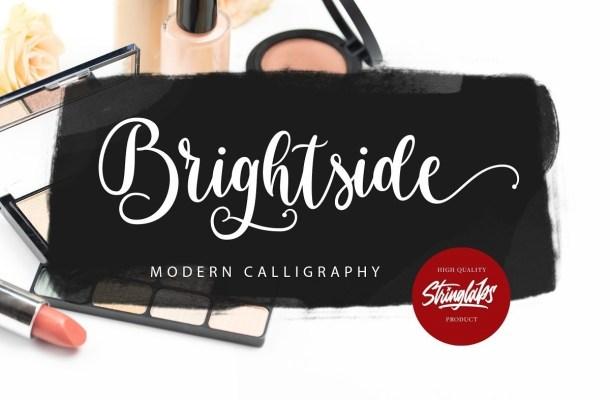 Brightside Modern Calligraphy Font
